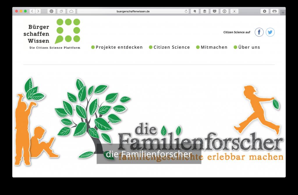 Bürger Schaffen Wissen Projekt